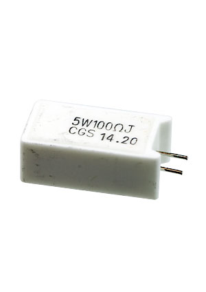 1623788-1, SQM 5W 100R 5% (WIRE)  Power Resistor